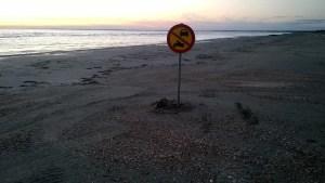Wenn ab hier Durchfahrt verboten ist, muss man wohl bis hierhin fahren dürfen...