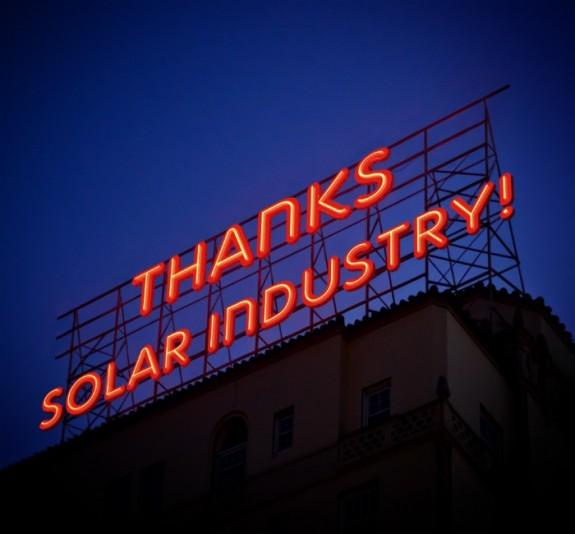 A 2014 Solar Industry Thanksgiving…