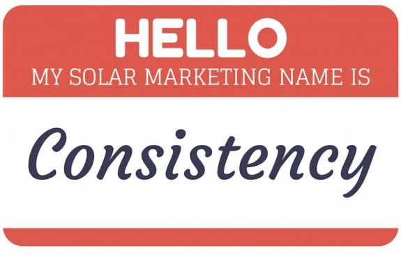 Solar Marketing + Consistency = Success/Time