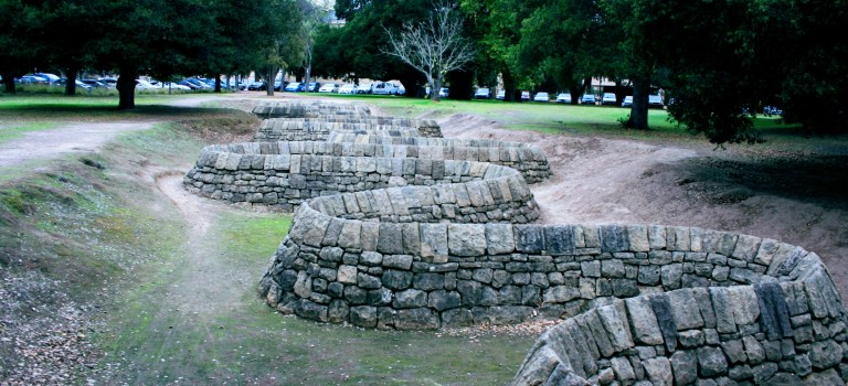 Andy Goldsworthy's Stone River at Stanford University
