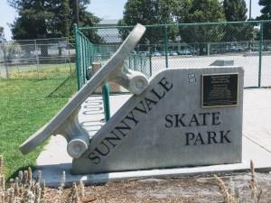 Entrance to the skate park at Fair Oaks Park in Sunnyvale