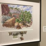 Christ in the Desert Monastery, Tree and Rock in a Blind Canyon by Tony Foster