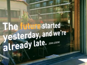 Window from the future institue: The future started yesterday and we are already late