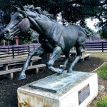 The horse in motion, statue at Stanford Equestrian