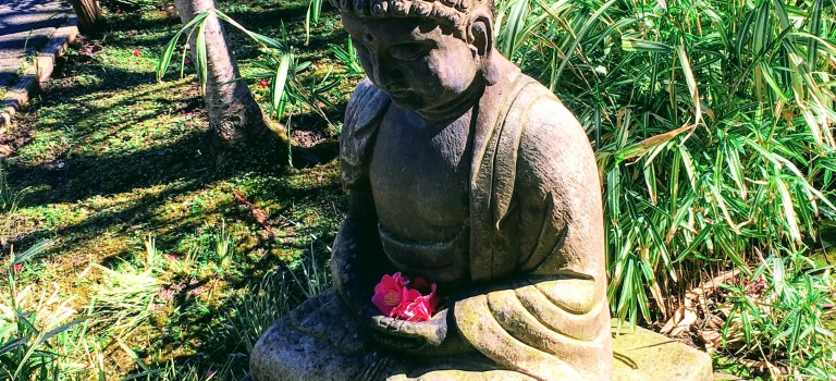 Buddha in the Japanese Garden, San Mateo