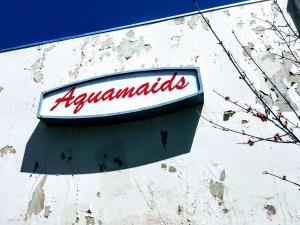 Aquamaids sign, Santa Clara