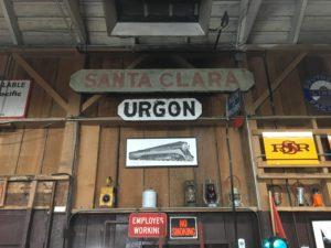 Santa Clara sign at the Santa Clara Railroad Depot and Museum