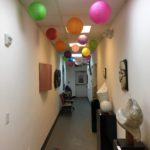 First floor hallway of the artist studios at the Peninsula Museum of Art, Burlingame