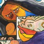 Mother with child, from the Grow Justice Mural at the PCJJ, Foster City