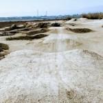 Dirt jumps off Shorebird Park, Foster City