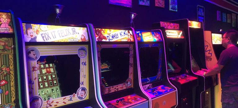 Video arcade machines at High Score, Alameda