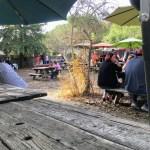 View of the beer garden, Alpine Inn