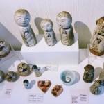 Ceramic figures by Shigemi Sanders at gallery 9, Los Altos