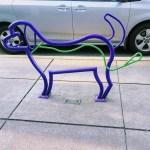 Dog bike rack in downtown Los Altos.