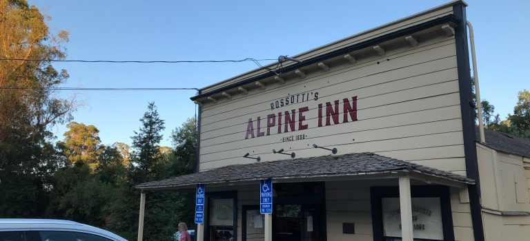 Front of the Alpine Inn, Portola Valley.