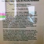 Excerpt for (inter) Facing - Fall 2019 Digital Media Art Faculty Exhibition.