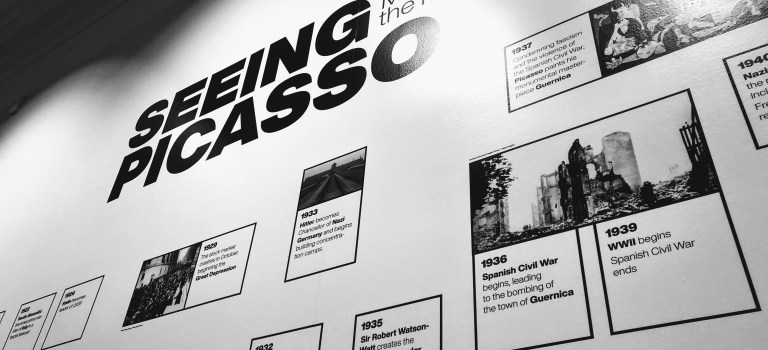 Timeline for Seeing Picasso at the Pace Gallery, Palo Alto.