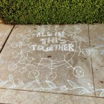All in this together - chalk drawing, Mountain View.