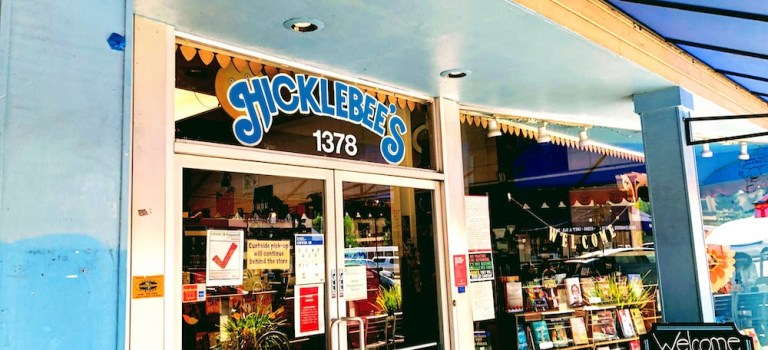 The entrance of the children's bookstore Hicklebee's in San Jose.