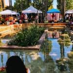 Artisan vendors at the Chili Mole Pozole Festival, School of Arts & Culture at Mexican Heritage Plaza.