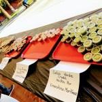 Different salsas at the Chili Mole Pozole Festival.
