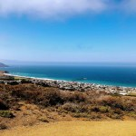 View from the Miragra trail towards the Pacific.