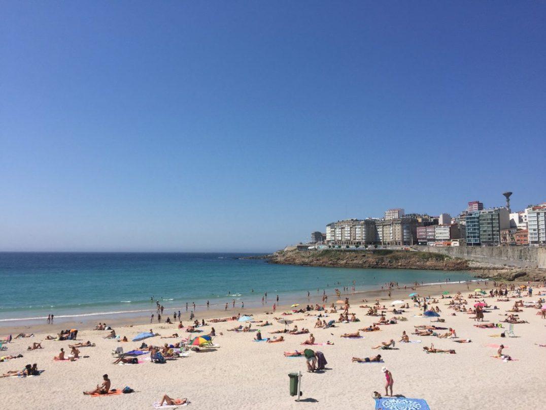 Beach and basking