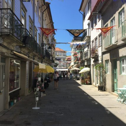 Side street with shawls