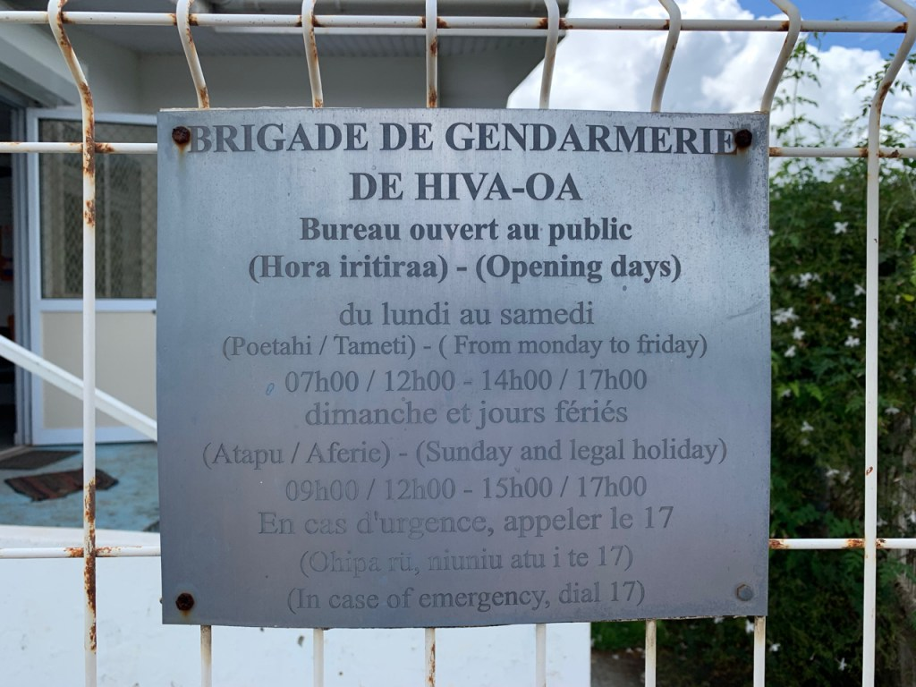 Gendarmerie Opening Hours
