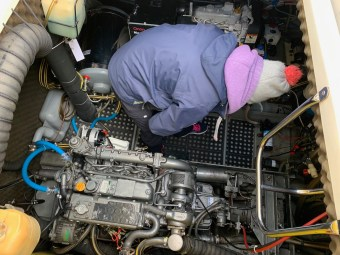 Found a woman in the engine room