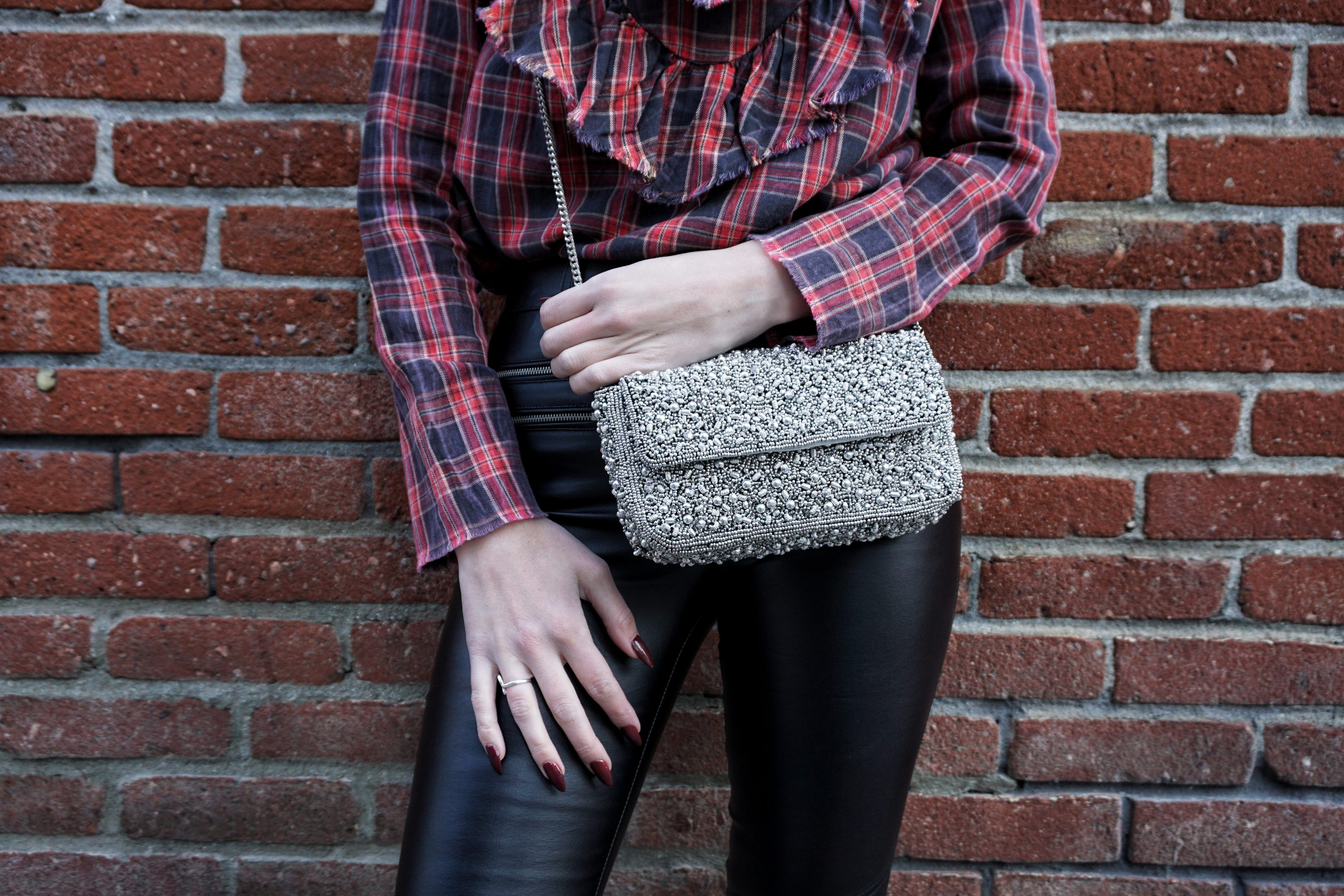 Mix N' Match: Leather, Plaid & Bling   Until The Very Trend