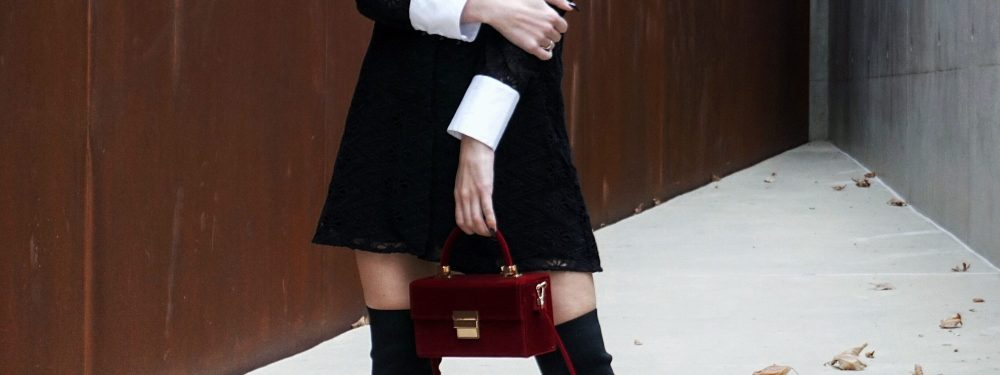 Black, White & Velvety Red | Holiday Outfit Inspiration | Until The Very Trend