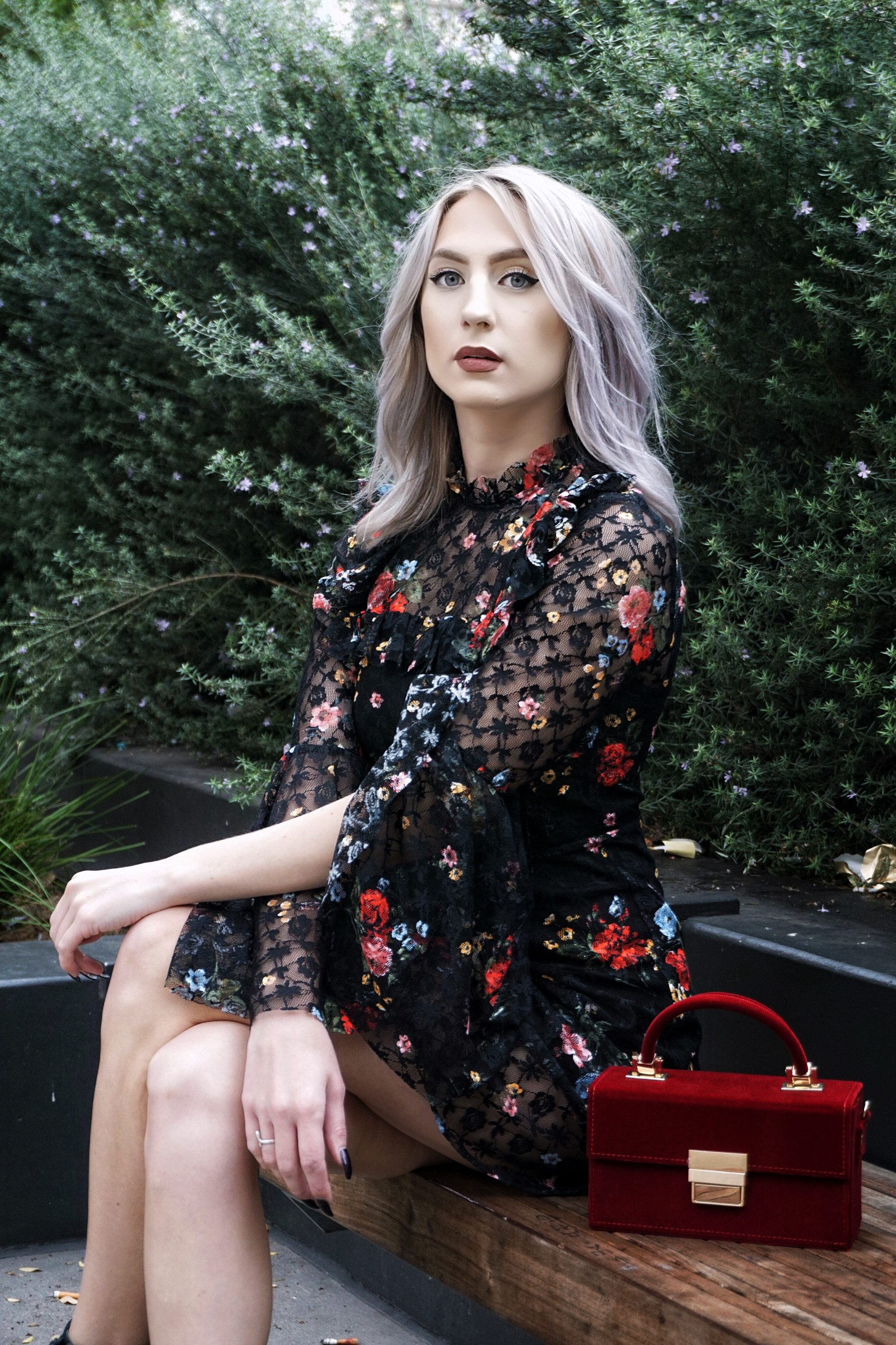 Topshop Gothic Lace Dress and Statement Boots | Until The Very Trend
