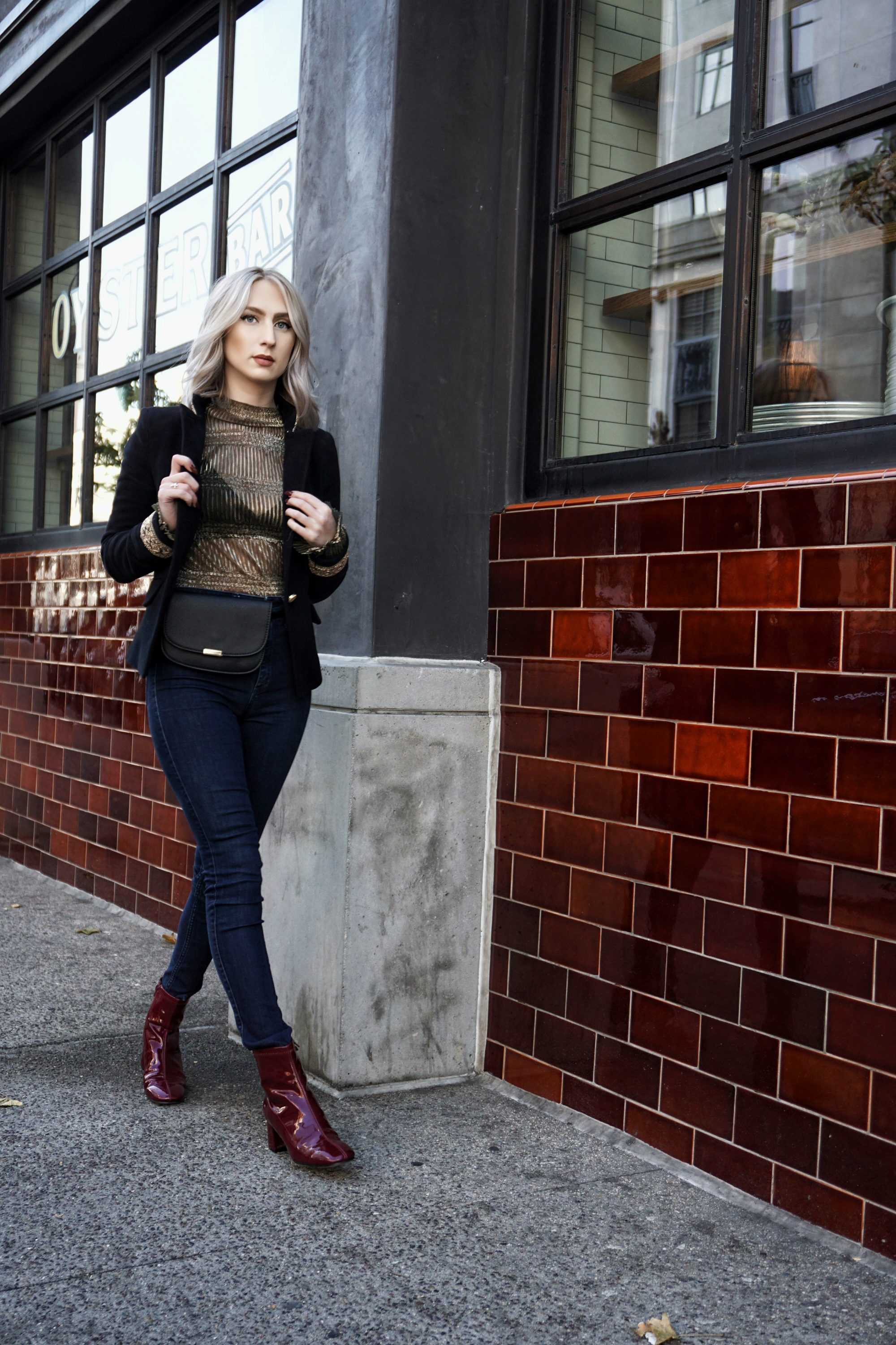 Lux Gold and Military Style Jacket | Until The Very Trend