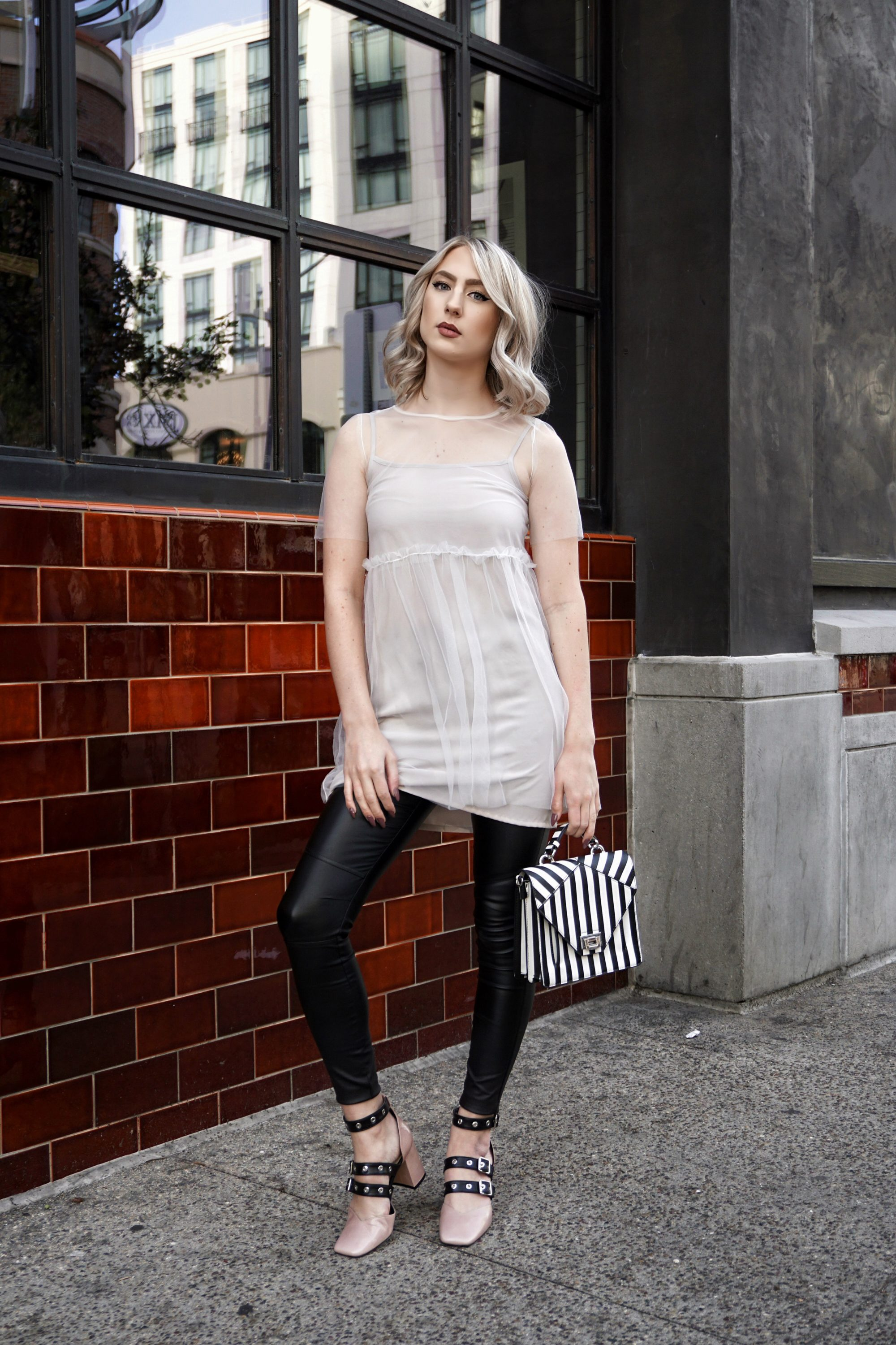 Tulle Dress with Leather Pants: The Baddest Ballerina