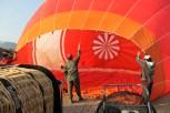 Just before my first hot air balloon ride. Vang Vieng, Laos