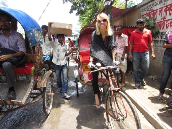 Embracing the local culture. Dhaka, Bangladesh