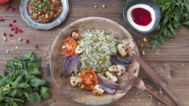 Le menu iranien 100% végé, le coup de cœur de la rédac. Crédits visuel : Fanny Maréchal