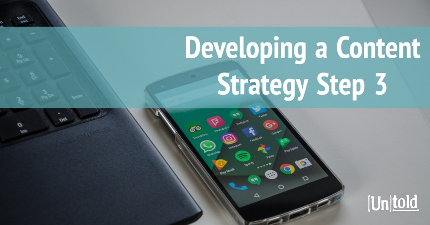 Developing a Content Strategy Step 3 Image