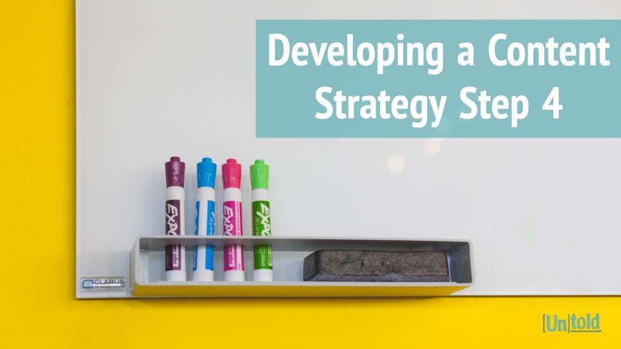 Developing a Content Strategy Step 4 Image
