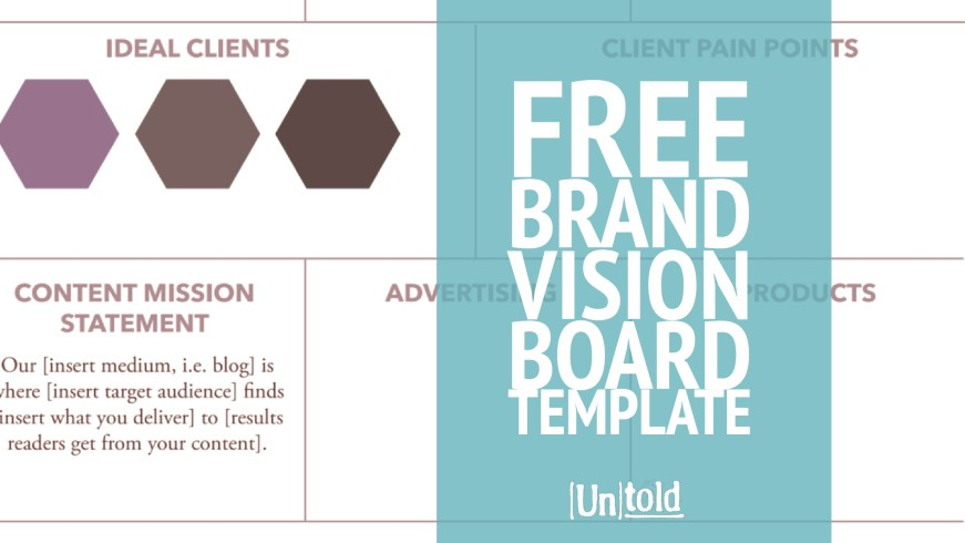 Free vision board template content marketing best practices for Vision board templates free