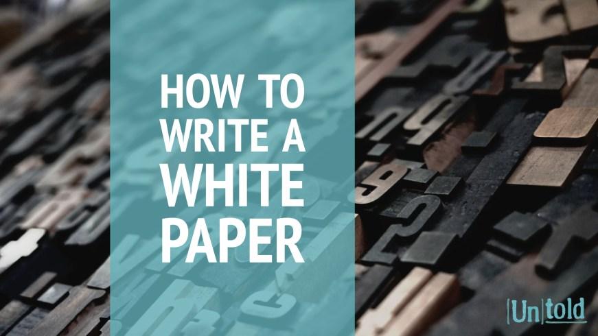 Write White Paper