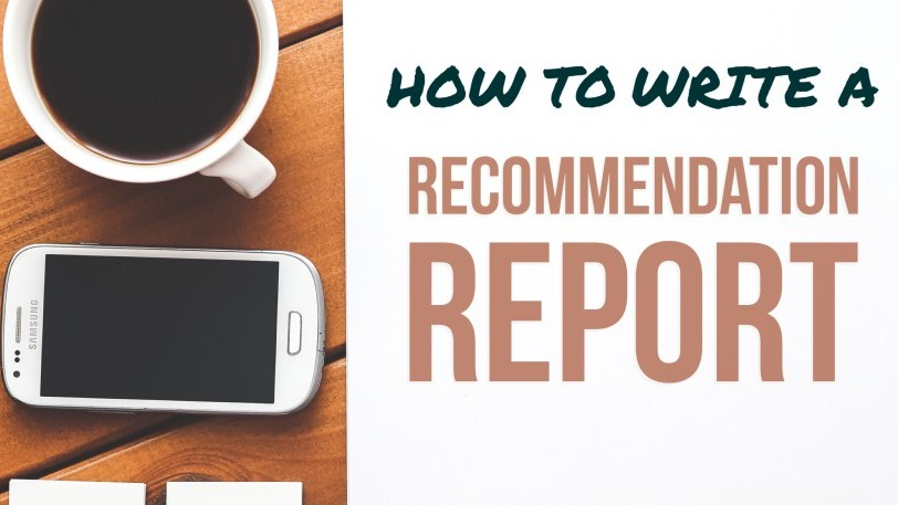 how to write recommendation for report