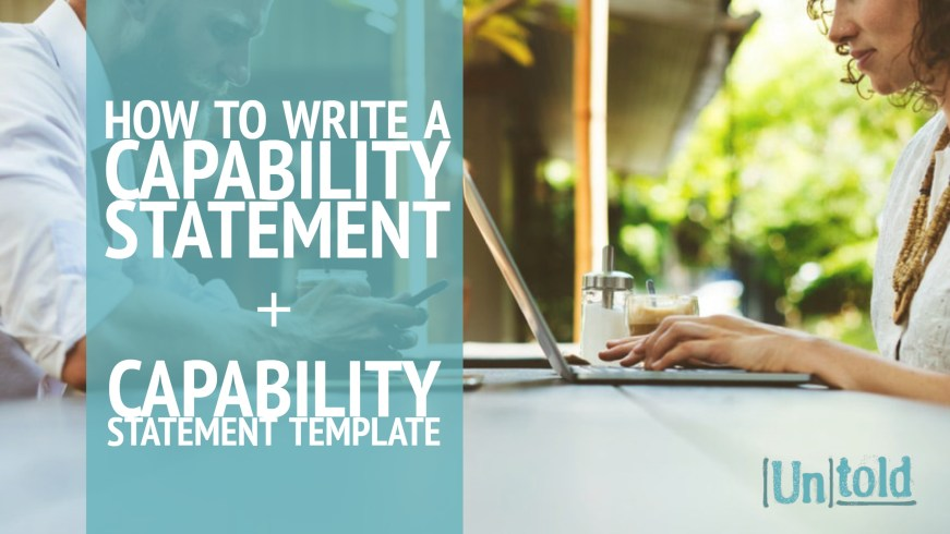 How To Write A Capability Statement  Capability Statement Template