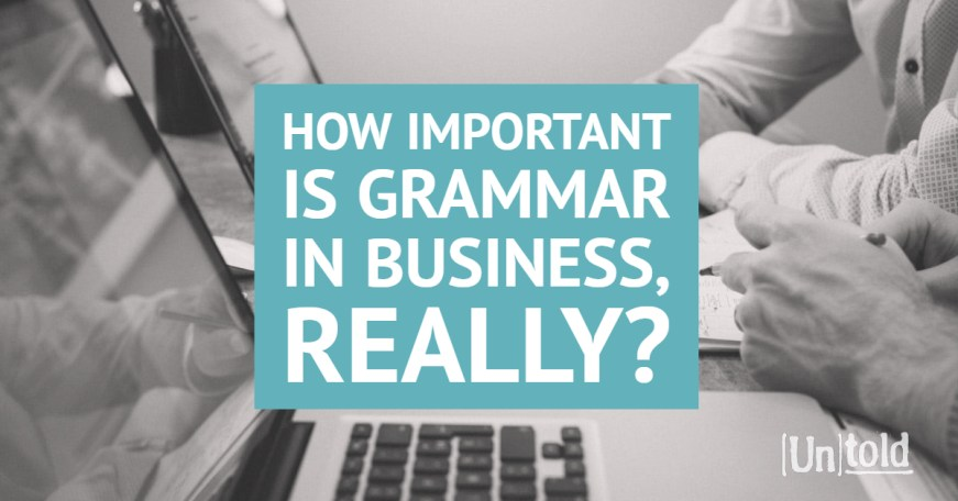 How Important is Grammar in Business Image