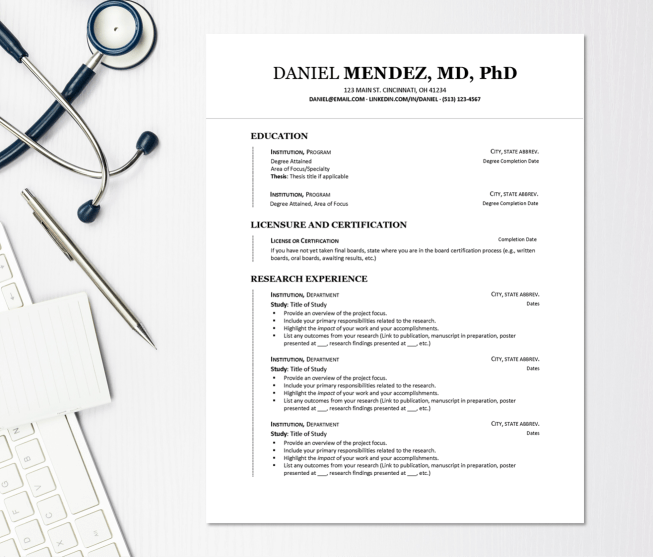 MEDICAL CV TEMPLATE ENTRY LEVEL