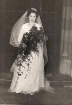 Shirley on her wedding day 1954