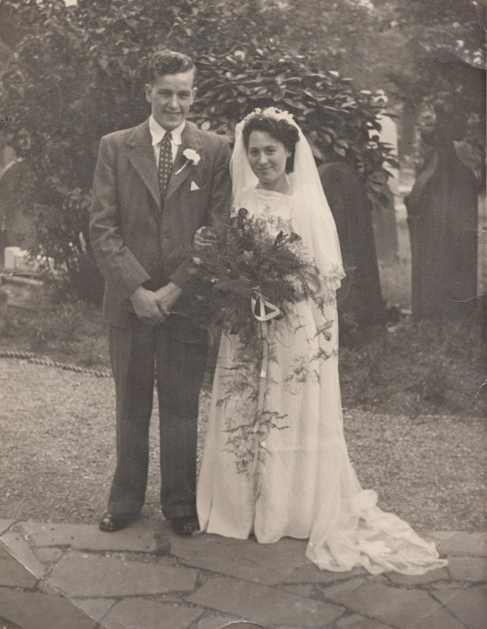 Sylvia on her wedding day