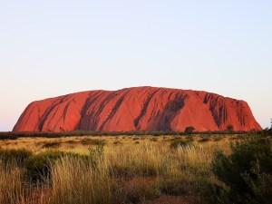 Uluru rock at sunset