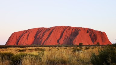 Uluru rock at sunset